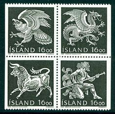 Iceland 1988 stamps, Guardian Spirits in the Coat of Arms