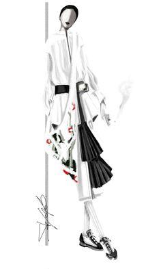Fashion Illustration by Stefania Belmonte Portfolio Fashion, Fashion Illustration Portfolio, Fashion Illustration Face, Illustration Mode, Fashion Illustrations, Fashion Design Inspiration, Fashion Design Sketches, Fashion Designers, Fashion Sketchbook