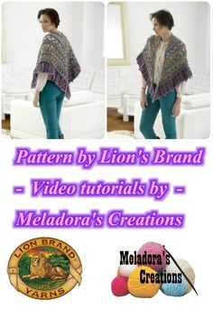 Falling Water Shawl - Free Crochet Pattern Lion's Brand yarn was kind enough to let me do a video tutorial of one of there patterns!
