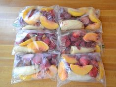 Smoothie packs breakfast. Good idea to have all ready to go!