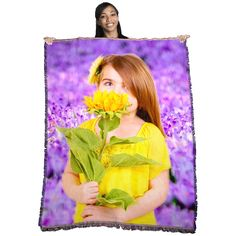 Personalized HD Woven Photo Blanket in X-Large | PersonalThrows.com