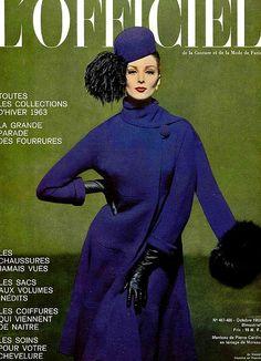 Wilhelmina in Pierre Cardin, L'Officiel October 1962