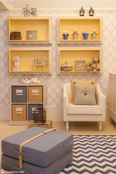 tapetes para quarto de bebe amarelo