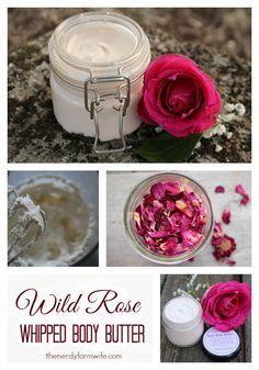 061114 wild rose ~ DIY: wild rose whipped body butter