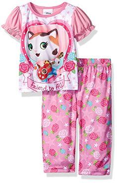 Disney Girls' Sheriff Callie 2pc Pajama Pant Set #GirlsPajamas #SheriffCalliePajamas #CharacterPajamas #YankeeToyBox