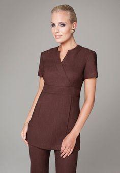 Buttercups Uniforms | Salonwear Range 2012 | B320 Wrap Look Salon Tunic