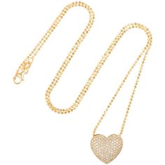 Anita Ko Heart 18-karat gold diamond necklace (58.270 ARS) ❤ liked on Polyvore featuring jewelry, necklaces, kaulakorut, gold, diamond pendant necklace, anchor pendant, druzy pendant, heart shaped diamond necklace and pendant necklace
