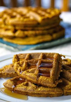 Pumpkin Pie Waffles: A healthy dessert-inspired breakfast