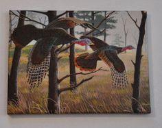 Check out Turkey Print Gallery Wrapped Canvas  9 x 12 Wildlife Art  Birds Wall & Home Decor by Doug Walpus on dougwalpusartstudio