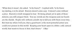 brave. #kaleidoscopeofheartbeats