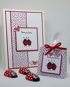 Sealed with Love : Valentines Treat Bag and Matching Card – With instructions, Stampin' Up! Demonstrator stampwithpeg