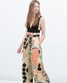 ZARA - ITS DRESS UP TIME - PRINTED LOOSE-FIT TROUSERS