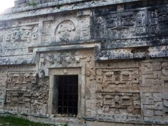 "La Iglesia, (""The Church"") decorated with elaborate masks.  Chichen Itza, Yucatan, Mexico.  Go to http://www.yourtravelvideos.com/view.php?view=121007 or click on photo for video and more on this site."
