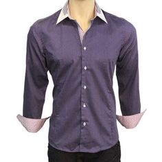 Dots Dress Shirt Purple, $60, now featured on Fab.