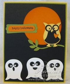 stampin up owl punch | Stamp & Scrap with Frenchie: Stampin'Up Owl Punch with the Ghost....