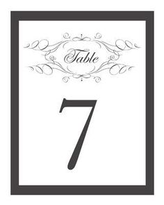10 Sets of Free, Printable Wedding Table Numbers: Wedding Chicks' Free Wedding Table Numbers