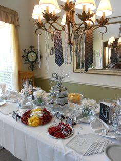 table setting 50 shades theme party