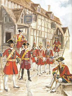 British Regiments 1700-1740 (Marlborough to Cumberland).