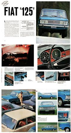 FIAT 125 Quattroruote 1967 Retro Cars, Vintage Cars, Fiat Cars, Fiat Abarth, Steyr, Car Advertising, Vintage Labels, Old Cars, Motorhome