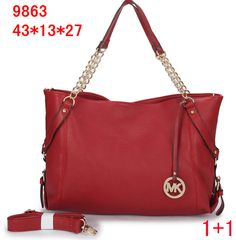 107c544a6d4 Michael Kors Leather Chain Tote Red We supply wholesale price Michael Kors  purses and wallets.
