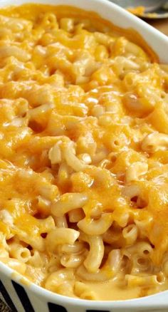 Super Cheesy Baked Macaroni & Cheese ~ Says: Trust us, this recipe--ooey-gooey warm-from-the oven--is cheesier than you ever thought possible. Your kids will enjoy macaroni and cheese all over again