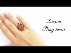 # МК - Ring of rhombus from beads and bicones Handmade Beaded Jewelry, Beaded Jewelry Patterns, Handmade Rings, Earrings Handmade, Diy Rings Tutorial, Summer Bracelets, Beaded Rings, Beads And Wire, Ring Earrings