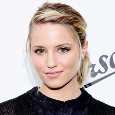 Dianna Agron-nice hairline braid/style for polished look in a rush!second day hair has best texture for this.