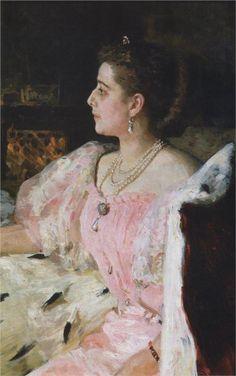 Ilya Repin (1844-1930) : Portrait of Countess Natalia Golovina, 1896
