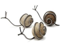 cute snail stones --- some one please make me some of these!
