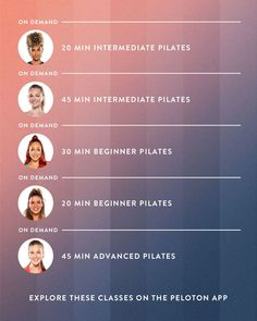 Take these Pilates workouts from home on the Peloton App!