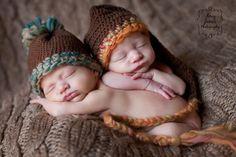 Eeeeeee!!!! Love this pic!        Baby Photo Prop Newborn Crochet Boys Infant Pom Pom Beanie Hat Chunky Blue Brown Emerald Green Teal Beige Cream Photography Prop. $35.00, via Etsy.