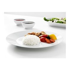IKEA - IKEA 365+, Plate, Made of feldspar porcelain, which makes the plate impact resistant and durable.The timeless and smart design makes the dinnerware meet all your needs at home, regardless of what you eat and drink, and withstand being used 365 days a year.