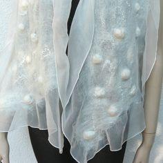 Nuno felted scarf - silk and wool