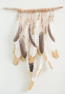 Kristen Leigh Baker's Feather Art - Studio Tour & Interview - lots more photos of her beautiful work - One Kings Lane -- Style Blog