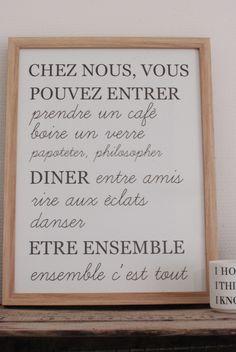 """Image of Affiche """"Chez nous..."""""""
