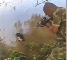 DEMAND JUSTICE! Fire SAVAGE Colombian soldiers filmed while attacking defenseless puppy for no reason! LORD HAVE MERCY!  FOR WHAT GOD FORSAKEN PURPOSE?????  INVESTIGATE! PROSECUTE!  ENOUGH OF THIS HEINOUSLY BRUTAL HUMAN SAVAGERY AGAINST DEFENSELESS BEINGS!  PLZ SIGN AND SHARE!