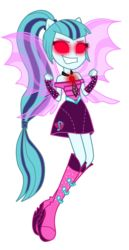 Size: 4000x7768 | Tagged: artist:mixiepie, commission, equestria girls, evil, fin wings, glowing eyes, ponied up, rainbow rocks, safe, simple background, sonata dusk, sonatevil, transparent background, vector