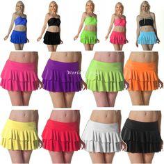 Yr 6/7/sec ? Ladies UV Neon Ra-Ra Rara Skirt Dance Party Casual Club Wear 11 Colours 3 Sizes
