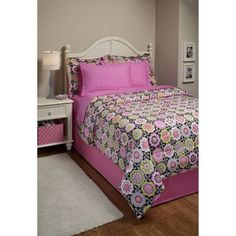 Funky Floral Bed in a Bag Bedding Set, Brown