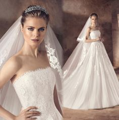 Find More Wedding Dresses Information about Robe de mariee 2016 New Arrival Long Wedding Dress With Veil…