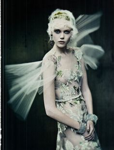 Frida Gustavsson by Paolo Roversi in Vogue Italia September 2011