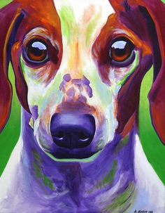 Dachshund - Cooper Painting  - Dachshund - Cooper Fine Art Print