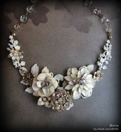 Would love to have an over the top flower necklace like this.