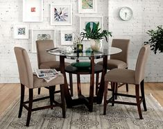 American Signature Furniture - Alcove Beige II Dining Room Collection-Counter-Height Table $209.99