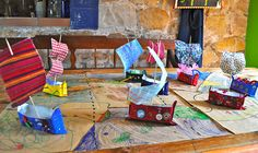 tutorial: how to make these cute boats for a pirate party // fun for the kids to make