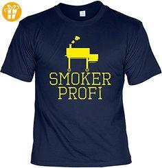 Griller T-Shirt - SMOKER PROFI - FunHemd für BBQ und Grillen - Shirts mit spruch (*Partner-Link)