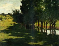 The Little White House, 1919 by Willard Metcalf. Impressionism. landscape. Private Collection