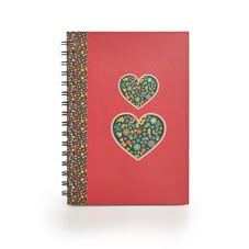 This useful and stylish A5 wiro bound notebook is perfect for notes, lists, homework and doodles. <BR><BR>Coordinating items are available in our Fable range.<BR><BR>A5 notebook. 80 sheets, 80gsm. FSC mix.