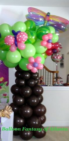 Balloon Tree, part of arch for Dora the Explorer birthday party