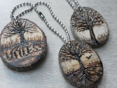 Key chains cedar disk pyrography all about by REDONEbykpstack, $11.00